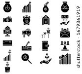 finance glyph icon set vector   Shutterstock .eps vector #1679361919