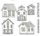 Set Of Old European Houses...