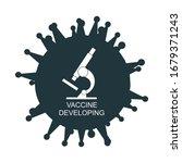 microscope and virrus... | Shutterstock .eps vector #1679371243