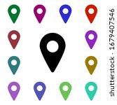 location pin multi color style...