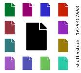 paper multi color style icon....