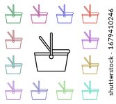 picnic basket multi color style ...