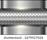 background silver metallic  3d... | Shutterstock .eps vector #1679417026