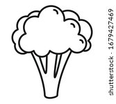 broccoli cabbage icon. outline...   Shutterstock .eps vector #1679427469