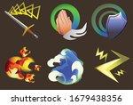 games skill icon design  vector