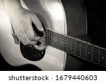 Guitarist Playing Acoustic...