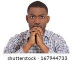 closeup portrait of young man... | Shutterstock . vector #167944733