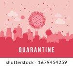 quarantine. cityscape...   Shutterstock .eps vector #1679454259