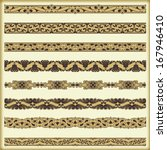 vintage border set for design    Shutterstock .eps vector #167946410