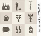 beer icons set vector | Shutterstock .eps vector #167948510