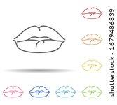 lips  woman in multi color...