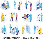 virus diagnostics in hospital.... | Shutterstock .eps vector #1679487283