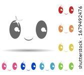happy face in multi color style ...