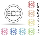 eco outline in multi color...