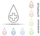 blood type in multi color style ...