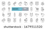 Vector Set Of 29 Grocery Icons...