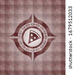 pizza slice icon inside red...   Shutterstock .eps vector #1679512033