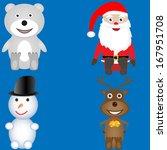 christmas icon set. vector... | Shutterstock .eps vector #167951708