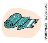 doodle towel rolled up. body...   Shutterstock .eps vector #1679517853
