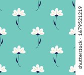 white flowers seamless repeat...   Shutterstock .eps vector #1679521219