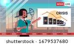 tv reporter presenting news... | Shutterstock .eps vector #1679537680