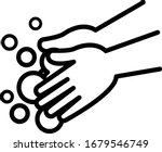 wash your hands with soap.... | Shutterstock .eps vector #1679546749