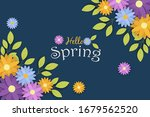 hello spring greeting card of... | Shutterstock .eps vector #1679562520