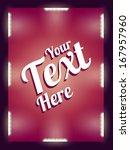 illuminated billboard | Shutterstock .eps vector #167957960