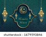 ramadan kareem or eid mubarak...   Shutterstock .eps vector #1679593846