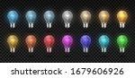 Light Bulb. Realistic Glowing...