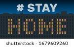 building night facade window...   Shutterstock .eps vector #1679609260