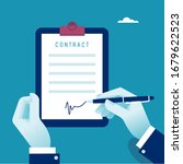 agreement. contract. signing...   Shutterstock .eps vector #1679622523