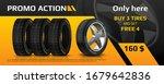 realistic tire banner. car...   Shutterstock .eps vector #1679642836