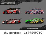 car wrap graphic livery design... | Shutterstock .eps vector #1679649760