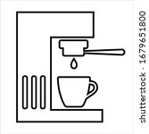 coffee machine line icon....   Shutterstock .eps vector #1679651800