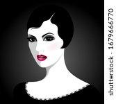 simple vector portrait of... | Shutterstock .eps vector #1679666770