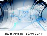 abstract blue cloud design | Shutterstock . vector #167968274
