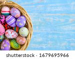 Colorful Easter Eggs Placed In...