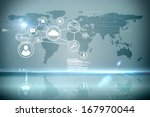 futuristic technology interface | Shutterstock . vector #167970044