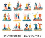 active seniors concept with... | Shutterstock .eps vector #1679707453