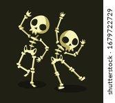 funny skeletons in different...   Shutterstock .eps vector #1679722729