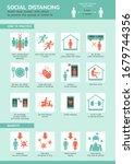 social distancing infographic ... | Shutterstock .eps vector #1679744356