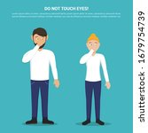 do not touch your eyes with man ... | Shutterstock .eps vector #1679754739