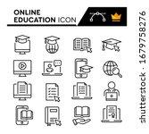 online education line icons set.... | Shutterstock .eps vector #1679758276