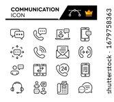communication line icons set....   Shutterstock .eps vector #1679758363
