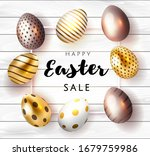 happy easter card with... | Shutterstock .eps vector #1679759986