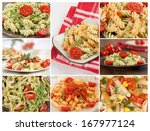 collage with different pasta | Shutterstock . vector #167977124