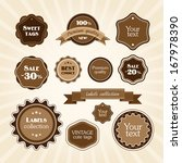 brown vintage labels | Shutterstock .eps vector #167978390