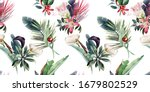 seamless floral pattern with... | Shutterstock . vector #1679802529