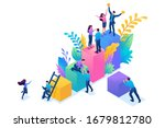 isometric concept collect data... | Shutterstock .eps vector #1679812780